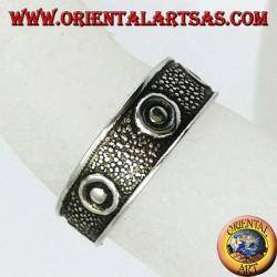 Серебряное кольцо с ногами или фалангой с пятью шпильками