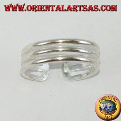 Silver ring for three-wire feet or phalanxes