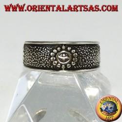 Anello in argento da piedi o falange con sorrisi cesellati