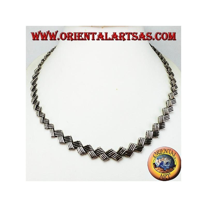 Collana in argento girocollo etnico piatto oriental art for Arredamento etnico bari