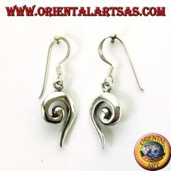 Orecchini in argento a spirale aperta