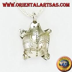 Lucky Karen tortoise silver pendant