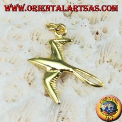 Swallow pendant in gold-plated silver