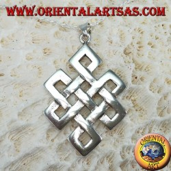 Pendant in 925 sterling silver knot from Srivatsa or Tibetan infinity