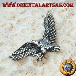Colgante de plata, águila dorada