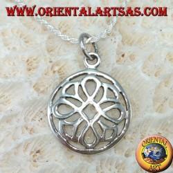 Ciondolo in argento nodo di san Giovanni nel cerchio