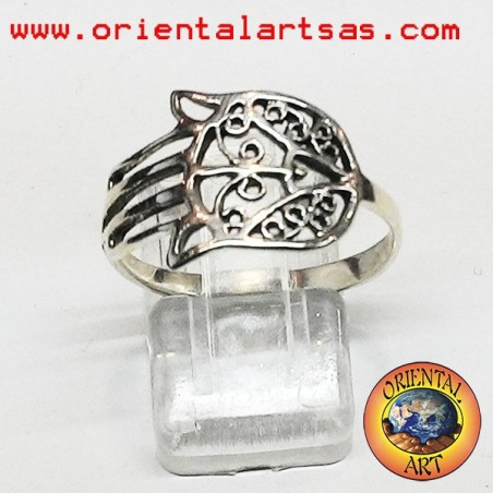 Ring Hand of Fatima in 925 silver