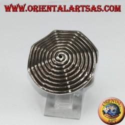 Silver ring, Karen spiral