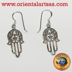 orecchini mano di fatima in argento 925