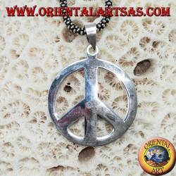 Pendentif en argent symbole de paix (moyen)