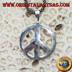 Silver pendant symbol of peace (medium)