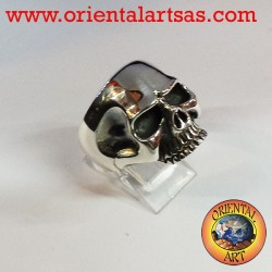 Silver ring Keith Richards skull