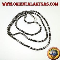 Silberkette, runde Locke