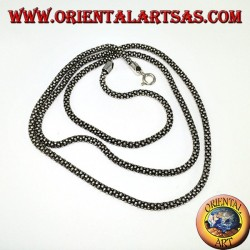 Silver chain, round curl