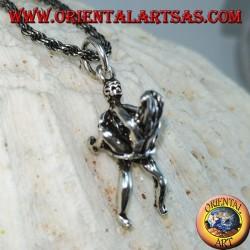 Ciondolo in argento del Kamasutra posizione Sospeso erotico