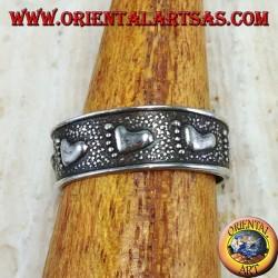 Anello in argento per piedi o falange con piede cesellato