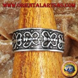 Серебряное кольцо для ног или фаланги с бабочками подряд
