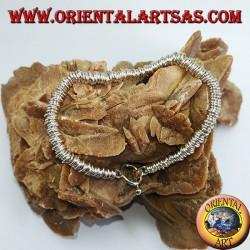Серебряный браслет с кольцевыми шайбами, модель додо
