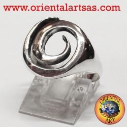 anello spirale in argento