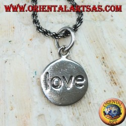 Pendant in silver medallion of love