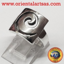 spiral ring in silver