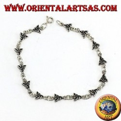 Bracciale in argento con nodo di tyrone