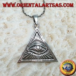 Silver pendant, eye of providence