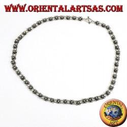 Collana in argento lavorazione a fiorellini ( girogola )