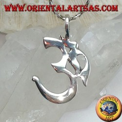 Silver pendant Oṁ Óm E Aum Sillaba (simple medium)