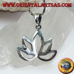Heilige Blume der silbernen Anhänger Lotus-Blume für Hinduismus und Buddhismus