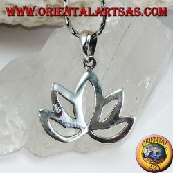 Silver pendant Lotus flower sacred flower for Hinduism and Buddhism