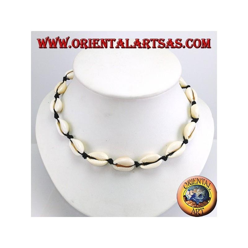 7c297ce39e2f Gargantilla collar de conchas de cauri con cadena y mosquetón (ajustable)
