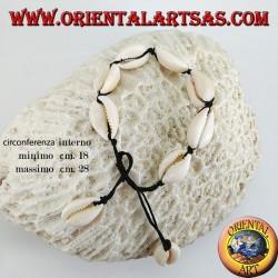 Bracelet de cheville et bracelet double usage de coques de cowrie cauri, réglable