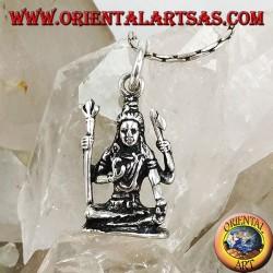 Ciondolo in argento di Shiva Statua di Śiva del tempio di Murudeshwara