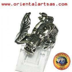 Anello drago Drago cinese in argento