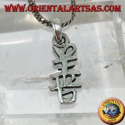 Colgante en plata símbolo de felicidad ideograma chino