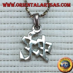 Silver pendant of the Chinese Serpent calendar symbol