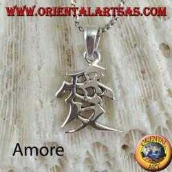 Colgante de plata Amor chino ideograma