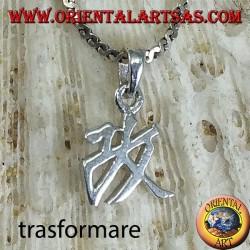 Ciondolo in argento, Trasformare ideogramma cinese