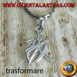 Silver pendant, Transform, Chinese ideogram