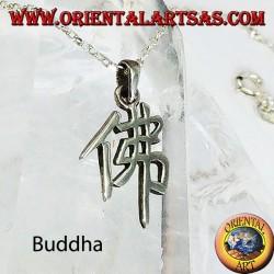 Pendentif en argent, idéogramme chinois Bouddha