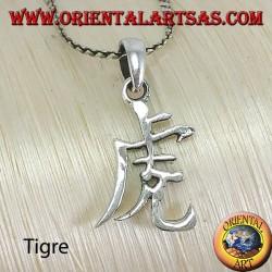 Pendentif en argent du symbole du calendrier chinois Tigre
