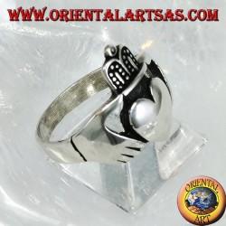 Bague en argent de Claddagh Symbole celtique de la fidélité à l'amour et de l'amitié (grande)