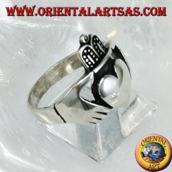 Claddagh Silberring Celtic Symbol der Liebe Loyalität und Freundschaft (groß)