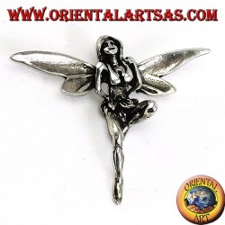 Beautiful three-dimensional fairy silver pendant
