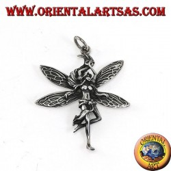 Silver fairy pendant (young beautiful woman)