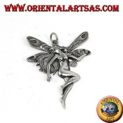 Big fairy pendant in 925 silver