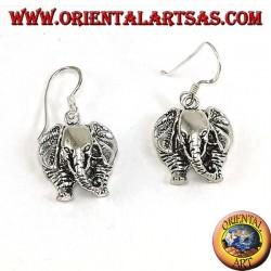 Pendientes de plata elefante