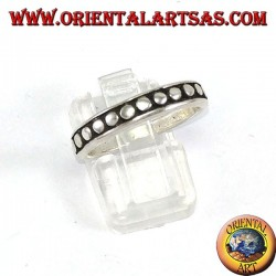 Silver ring with dots