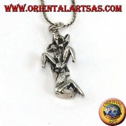 Ciondolo in argento del Kamasutra posizione Cunnilingus